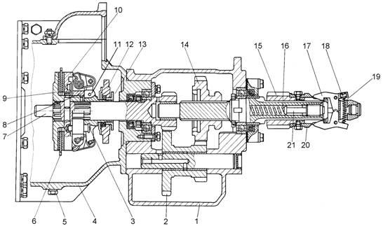 Схема сцепления т-170
